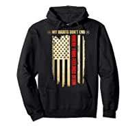 My Rights Don't End Where Your Feelings Begin Shirts Hoodie Black