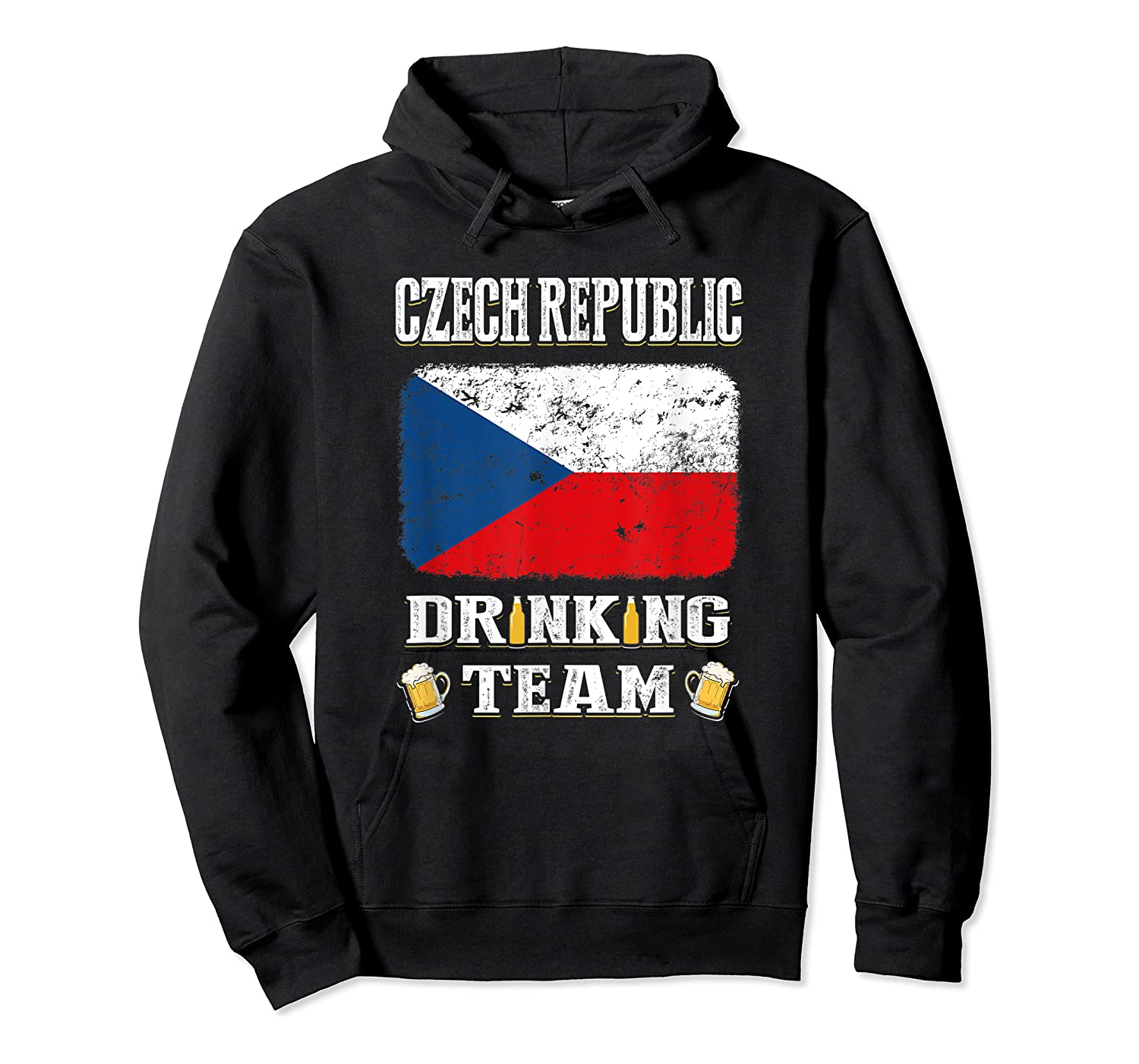 Czech Republic Drinking Team Funny Beer T Shirt Unisex Pullover Hoodie