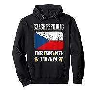 Czech Republic Drinking Team Funny Beer T Shirt Hoodie Black