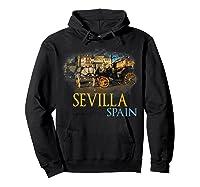 Sevilla Spain Watercolor Family Souvenir Shirts Hoodie Black