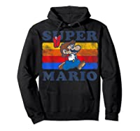 Super Mario Losing Hat Stripes Shirts Hoodie Black