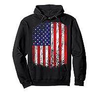 Distressed American Flag, Patriotic Shirts Hoodie Black