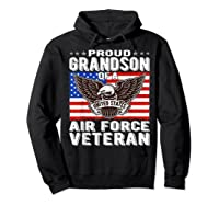 Proud Grandson Of Air Force Veteran Patriotic Military Gifts Shirts Hoodie Black