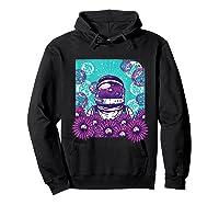 Astronaut Flowers Daisy Bubble Ocean Shirts Hoodie Black