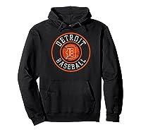Detroit Baseball Michigan Vintage Bengal Tiger Badge Gift Shirts Hoodie Black