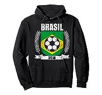 Brazilian 2018 Football Brazil Soccer Fan T-shirt Hoodie Black