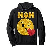 Emoji Gift For Mom Kissing Emoji Heart Mothers Day Shirts Hoodie Black