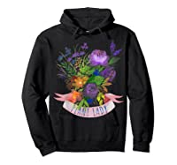 Plant Lady Shirt Gardening Gift Watercolor Flower Garden T-shirt Hoodie Black
