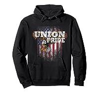 Union Pride American Flag Eagle Labor Day Usa Worker Shirts Hoodie Black