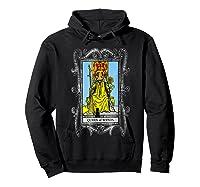 The Queen Of Wands Tarot T-shirt Hoodie Black