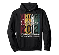 Gift For 8th Birthday October 2012 Vintage Limited Edition Premium T-shirt Hoodie Black