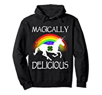 Magically Delicious Unicorn St Patrick's Day Ns Shirts Hoodie Black