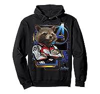 Marvel Avengers Endgame Rocket Logo Graphic T-shirt Hoodie Black