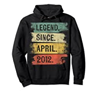 8 Year Old Gifts Legend Since April 2012 8th Birthday Shirts Hoodie Black