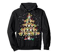 Shetland Sheepdog Christmas Tree Funny Sheltie Christmas T-shirt Hoodie Black