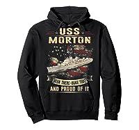 Uss Morton (dd-948) T-shirt Hoodie Black