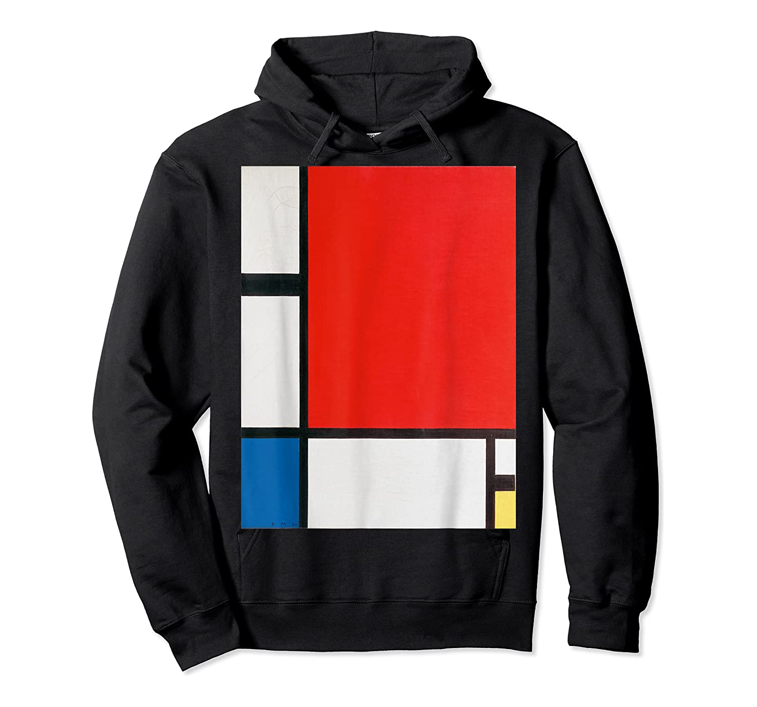 Composition With Red Blue And Yellow T-shirt Unisex Pullover Hoodie