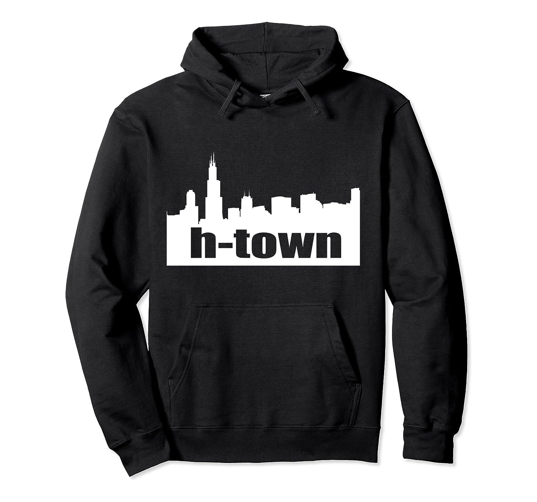 Houston Texas Skyline Print H-town Pullover Shirts