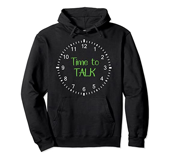 Time to Talk – Mental Health Awareness Pullover Hoodie