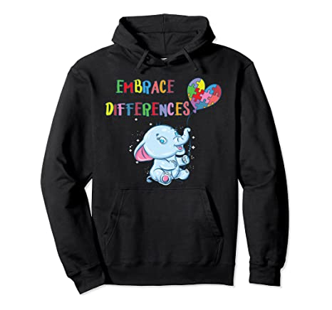 Embrace Differences – Autism Awareness Pullover Hoodie