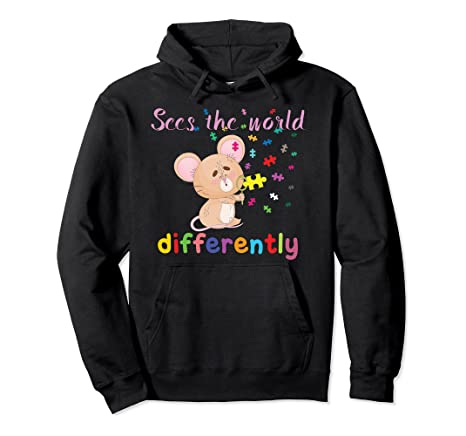 Sees the World Differently – – Autism Awareness Pullover Hoodie