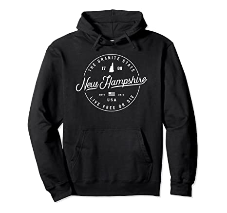 New Hampshire State Motto Souvenir Tourist Womens Hooded Pullover Sweatshirt