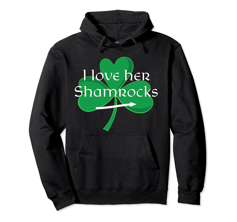 Funny Couples St. Patty's Day I Love Her Shamrocks Shirts