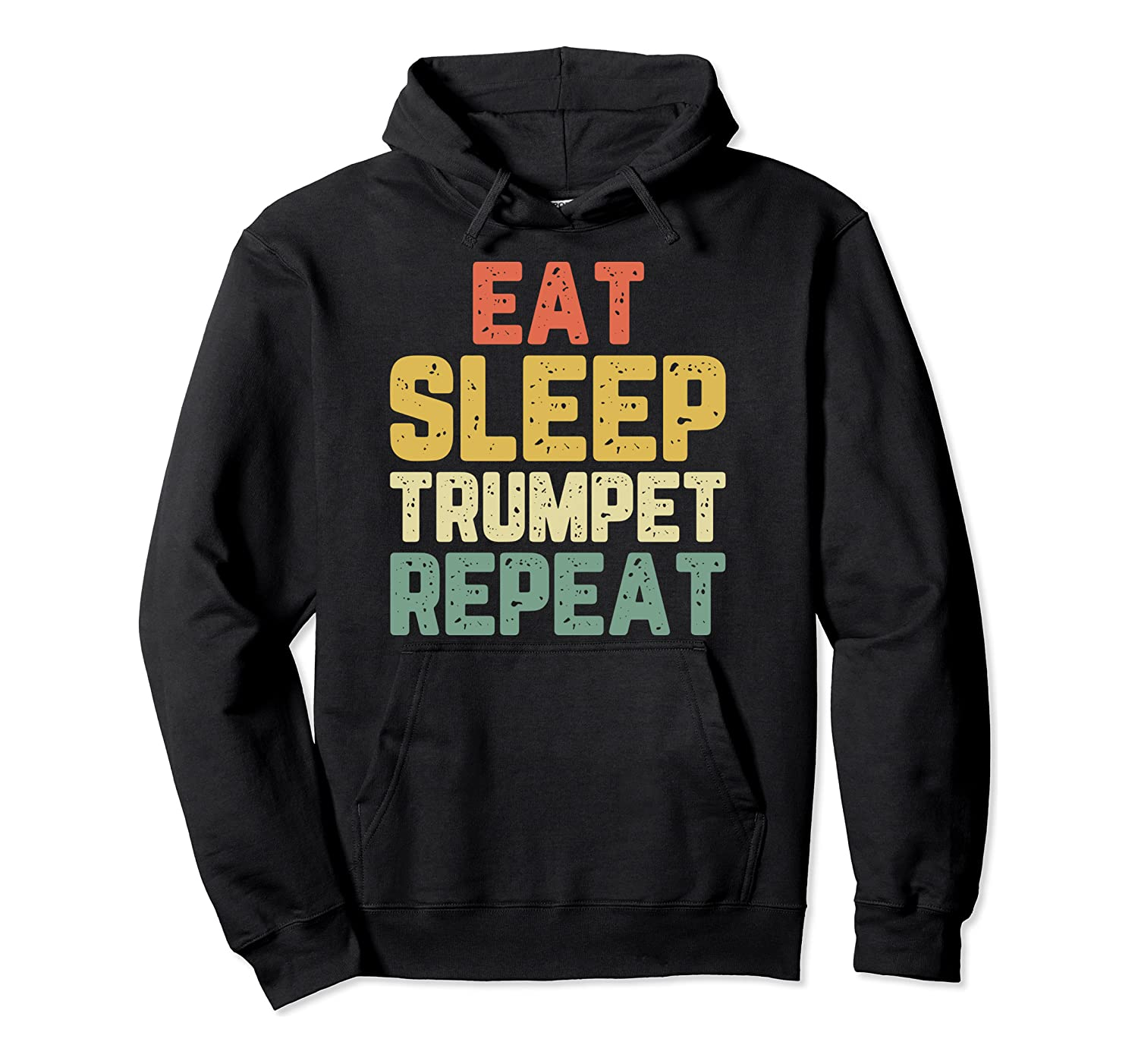 Eat Sleep Trumpet Trumpeter Player Funny Gift Retro Pullover Hoodie