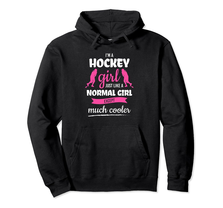 I'm A Hockey Girl Quote Ice-Hockey Player Hockey Pullover Hoodie-Cotoa