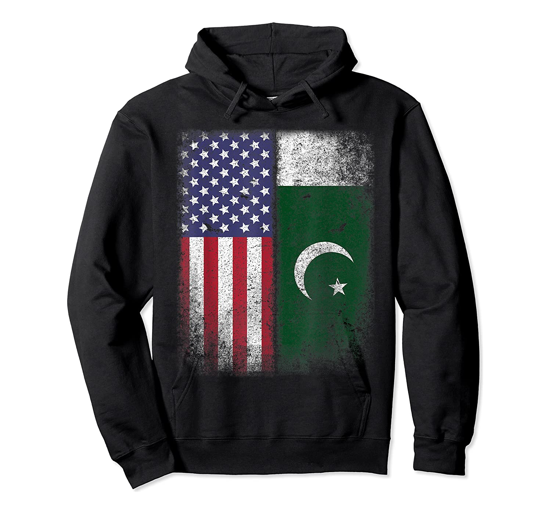 Pakistan Usa Pakistani American Flag Pride Shirts Unisex Pullover Hoodie