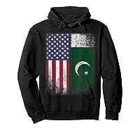 Pakistan Usa Pakistani American Flag Pride Shirts Hoodie Black