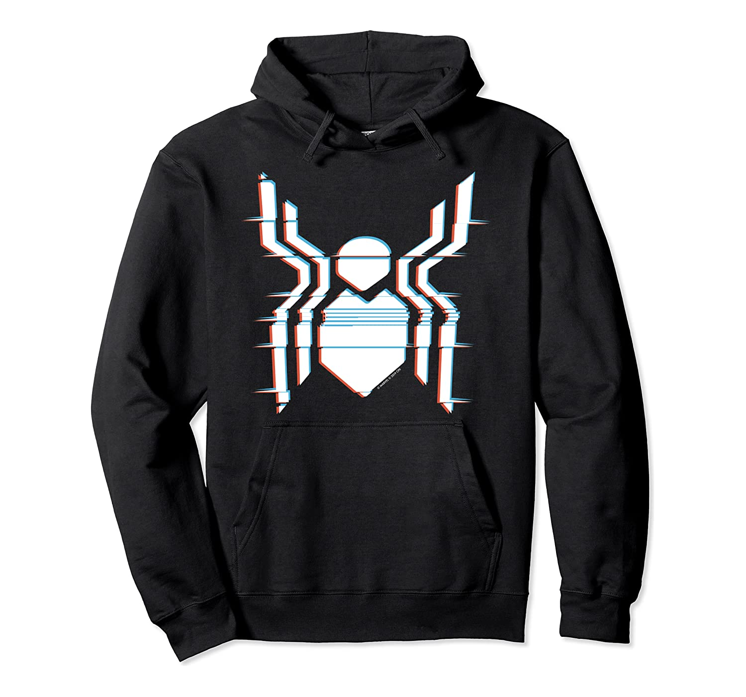 Marvel Spider-Man Far From Home Glitch Chest Logo Pullover Hoodie