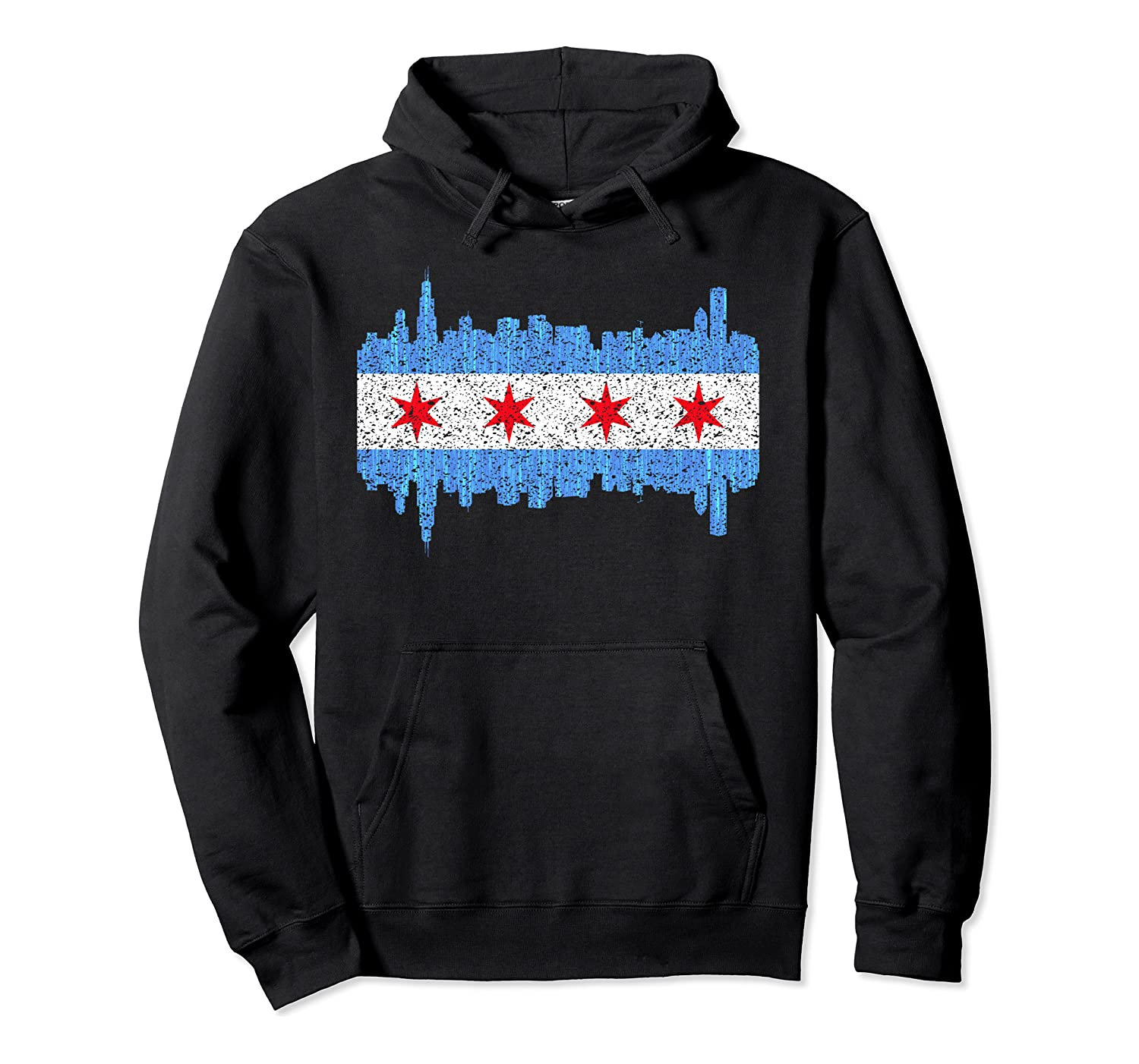 City Of Chicago Chicago City Flag Vintage Shirts