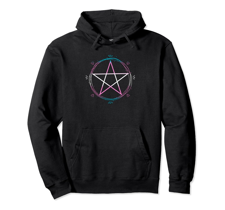 Transgender Pentagram Wiccan Pagan Trans Pride Flag Boho Pullover Shirts