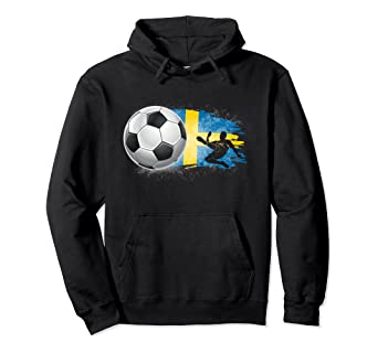 Amazon Com Sweden Soccer Jersey Sverige Football Team Fan Pullover Hoodie Clothing
