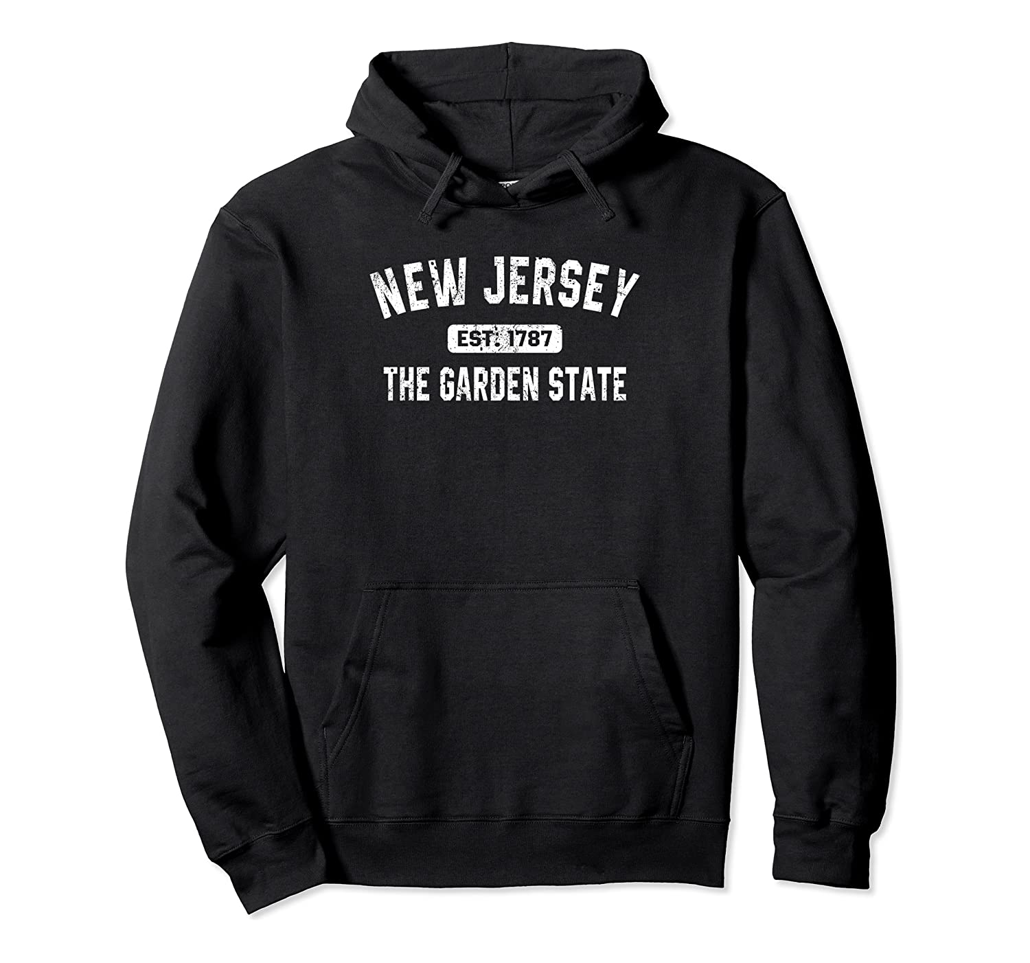 New Jersey The Garden State Sport Lovers Distressed Gift Pullover Hoodie
