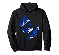 Pod Of Orca Whales T-shirt Hoodie Black