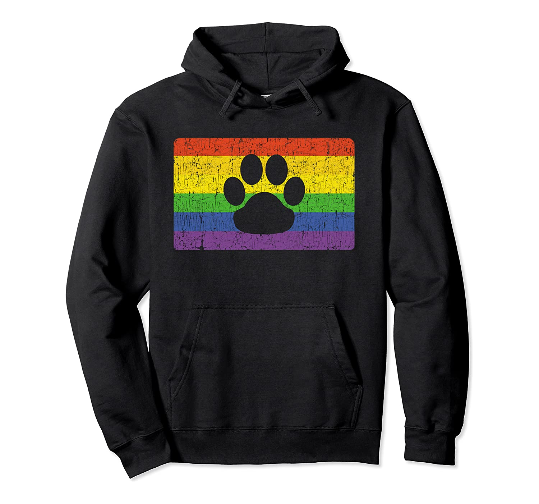 Gay Furry Pride Flag Gift Furries Rainbow Lgbt Fandom Paw Shirts