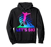 Retro Ski Vintage 80s 90s Skiing Out Shirts Hoodie Black