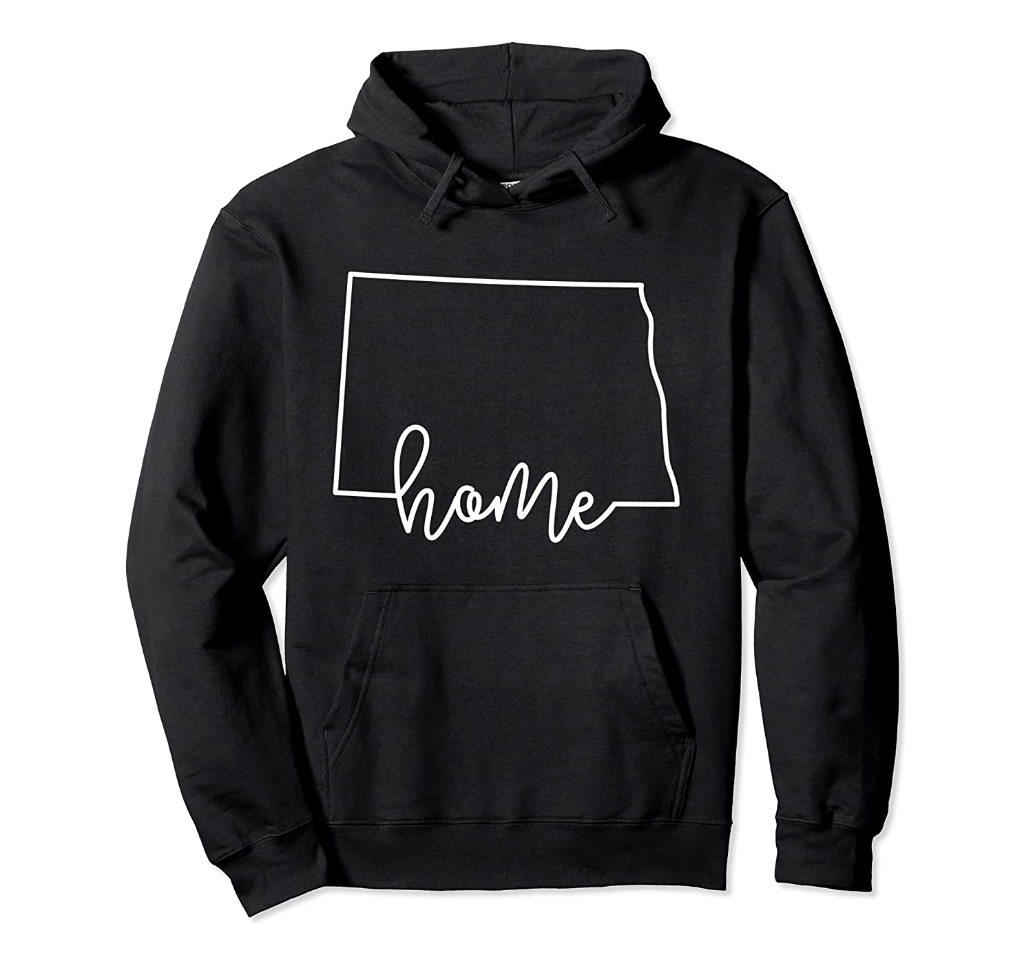 State of North Dakota Outline with Home Script ACJ034b Pullover Hoodie