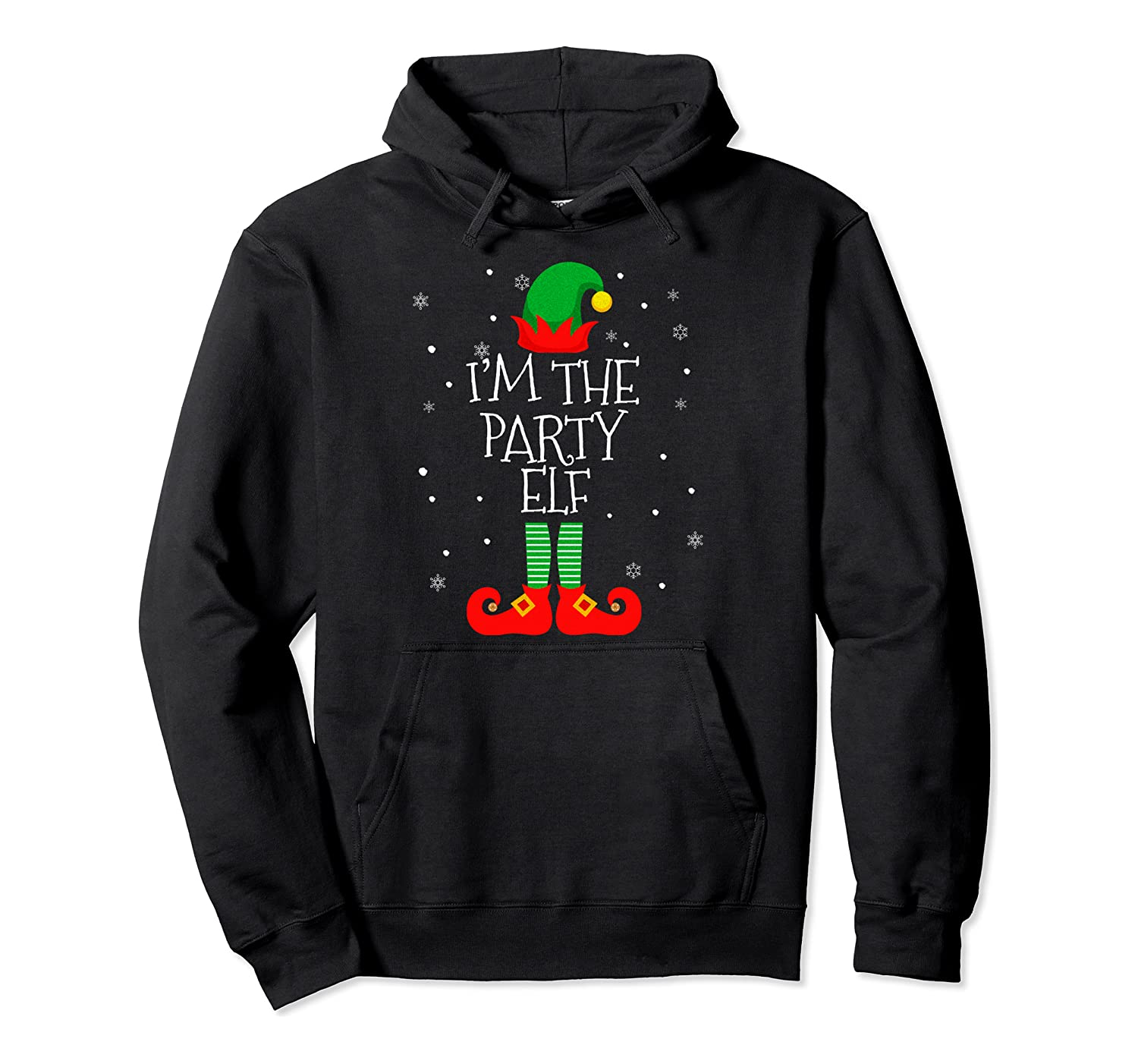 I'M THE Party ELF Christmas Xmas Elf Group Costume Gift Pullover Hoodie