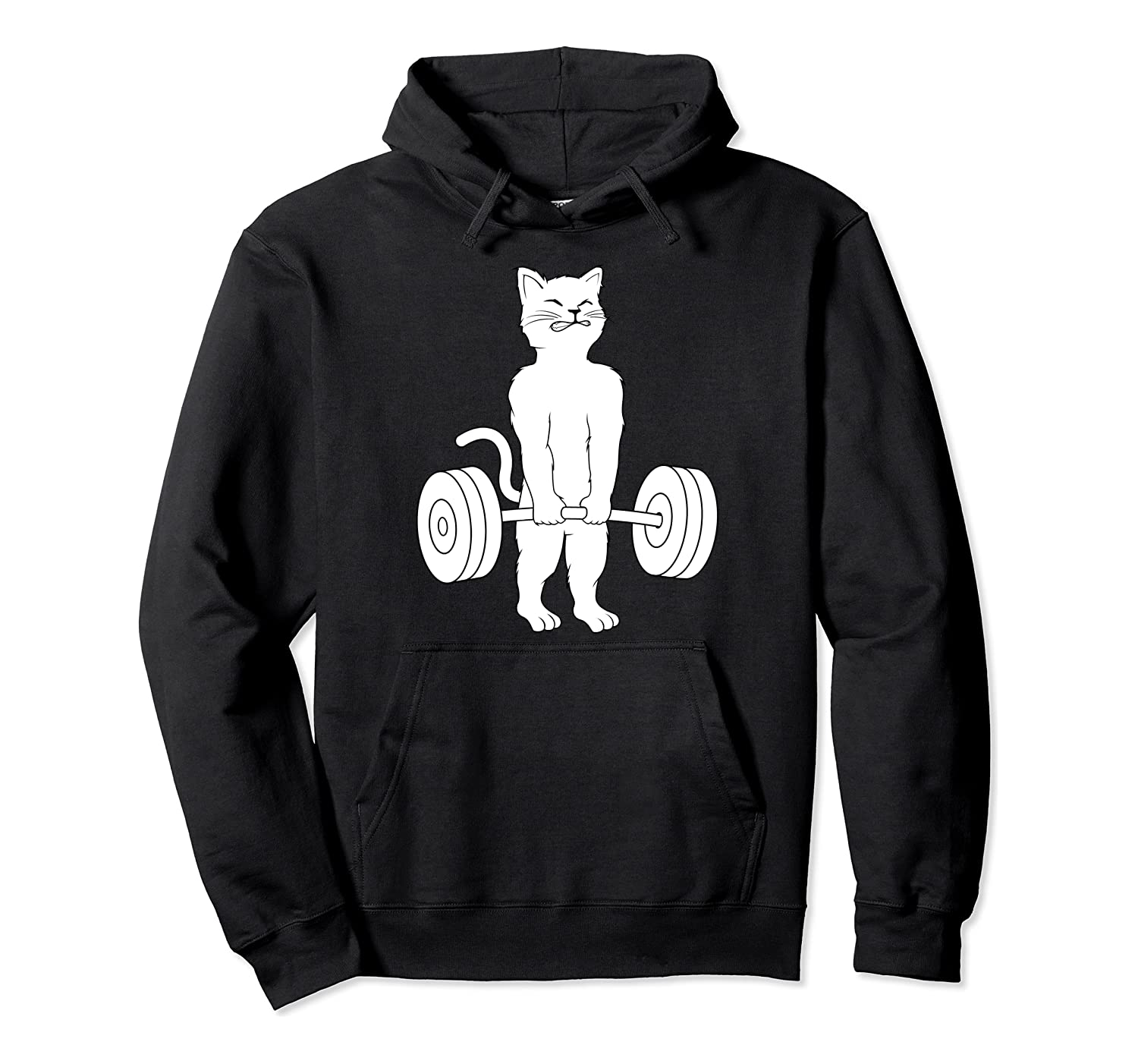 Cat Deadlift Powerlifting Kitty Sweater, Muscle Cat Shirts