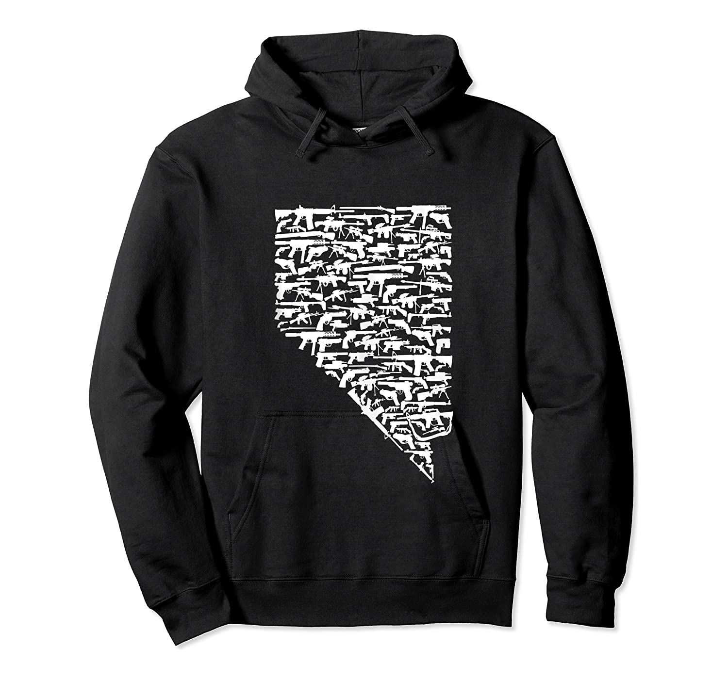 State Of Nevada Made Up Of Guns 2nd Adt Rights Shirts Unisex Pullover Hoodie