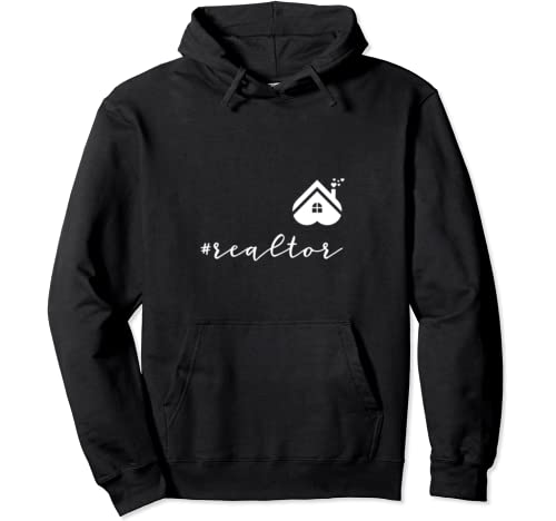 Realtor Love House Heart Funny Realtor Valentines Day Gift Pullover Hoodie