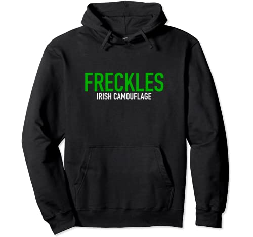 Freckles Irish Camouflage St. Patrick's Day Pullover Hoodie