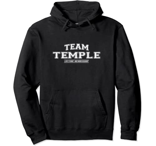Team Temple | Proud Family Surname, Last Name Gift Pullover Hoodie