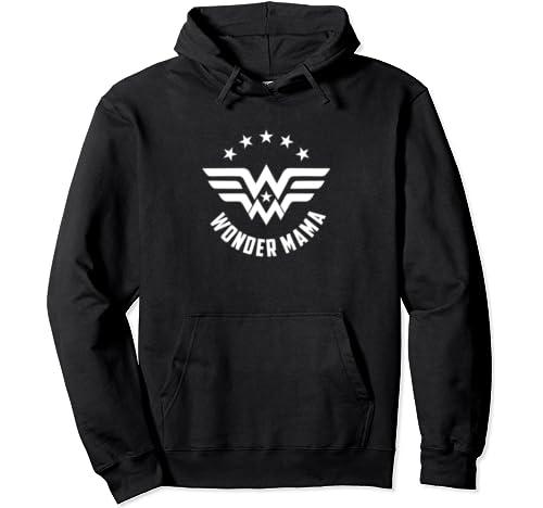 Wonder Mama Tee Gifts For Superhero Women Mom Mothers Pullover Hoodie