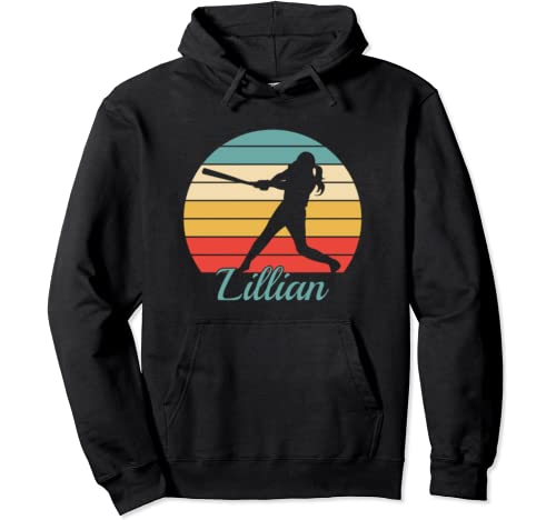 Lillian Name Gift Personalized Softball Pullover Hoodie