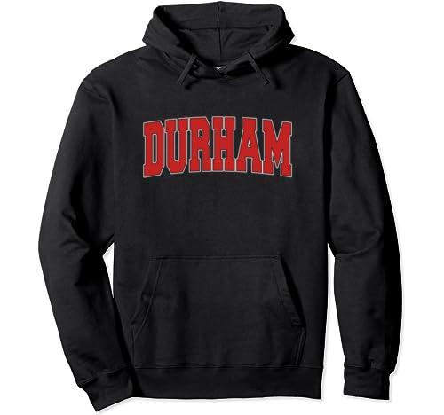 Durham United Kingdom Varsity Style Vintage Retro Uk Sports Pullover Hoodie