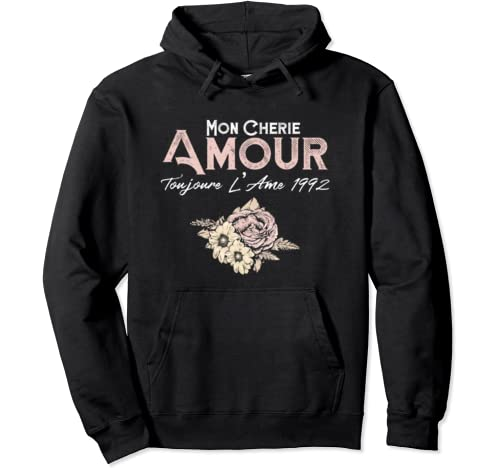 Mon Cherie Amour My Dear Love Romantic Valentines Day Gift Pullover Hoodie